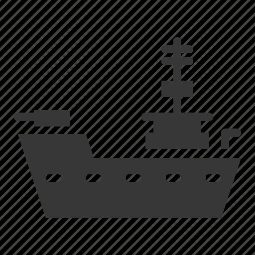 army, battleship, equipment, military, ship, vehicle, warship icon