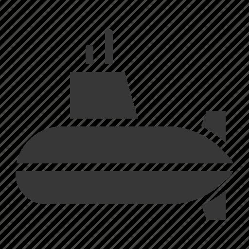 army, equipment, military, submarine, vehicle icon