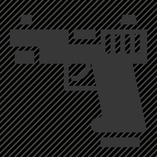 army, equipment, gun, handgun, military, weapon icon