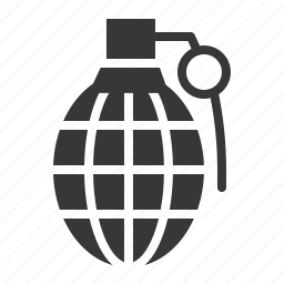 army, equipment, grenade, hand grenade, military, weapon icon