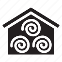 warehouse, barn, hay, product, milk icon