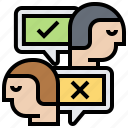 anger, argument, conflict, conversation, disagree icon