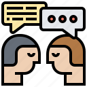 chatter, conversation, dialogue, inner, thoughts icon