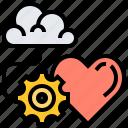 affection, cloud, feelings, heart, love