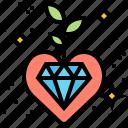 diamond, heart, mind, perfection, sparkle