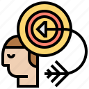 achievement, ambition, arrow, purpose, target icon