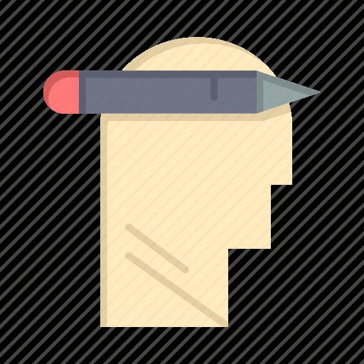 Head, mind, thinking, write icon - Download on Iconfinder