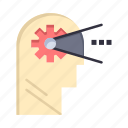 cognitive, head, mind, process icon