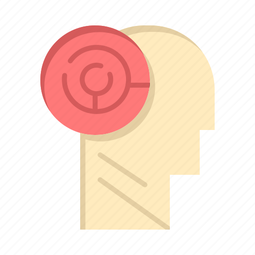 games, head, mind, target icon