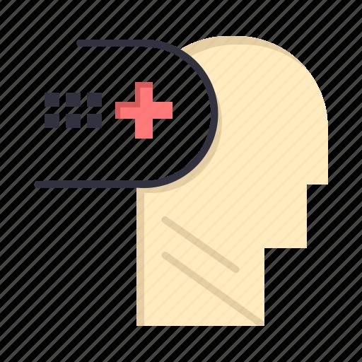 health, medical, mental, mind icon