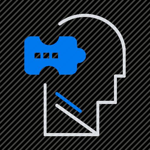 logic, mind, problem, solving icon