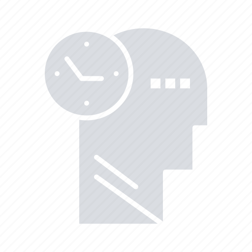 Head, mind, thoughts, time icon - Download on Iconfinder