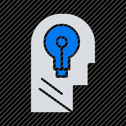 business, head, idea, mind, think icon