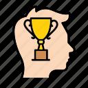 award, gain, head, recall, recollect