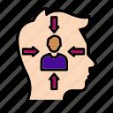dementia, inner, introvert, mind icon
