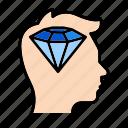diamond, head, human, perfection, thinking