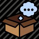 miscellaneous, box, think, creative, rainbow icon