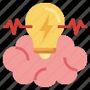 idea, brainstorm, lightbulb, energy, miscellaneous icon