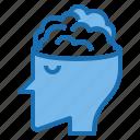 adaptation, brain, mind, mindset, startup, success icon