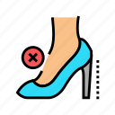 high, heel, woman, shoe, feet, disease