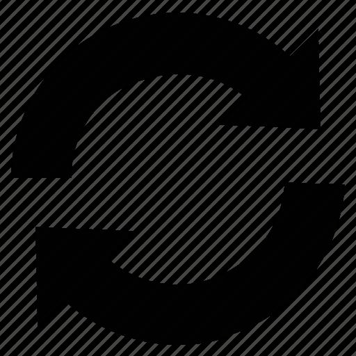 arrow, rotating, sync, synchronization, synchronize, update icon