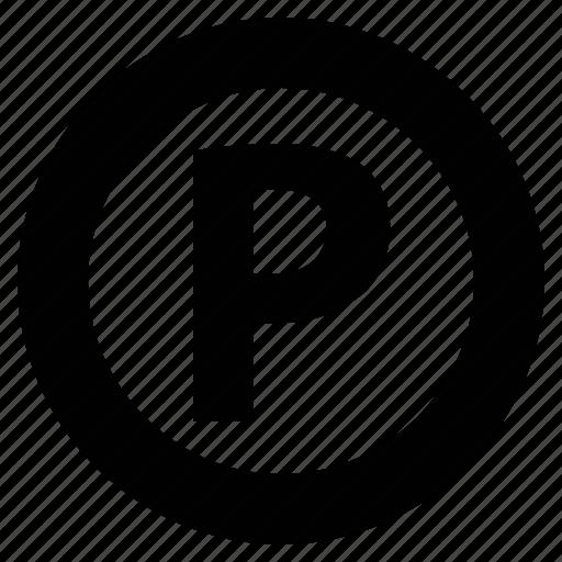 Car parking, letter p, parking, road sign, transport, vehicle icon - Download on Iconfinder