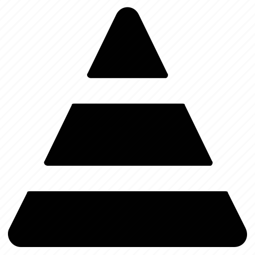 cone, monumental structure, pile, pyramid, pyramid chart icon