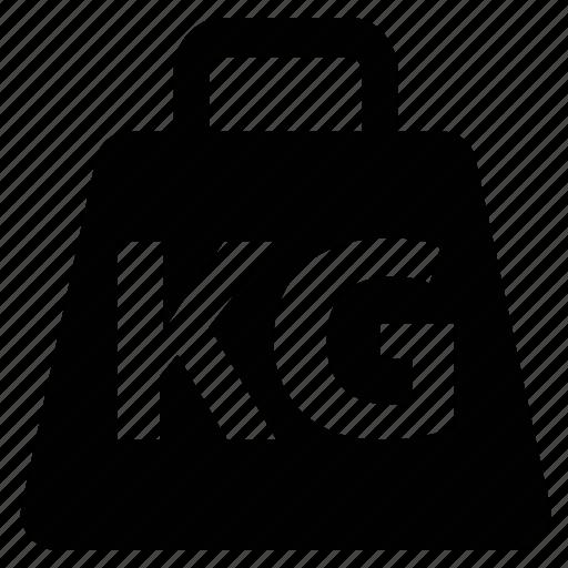 kg, kilo, kilogram, weight, weight unit icon