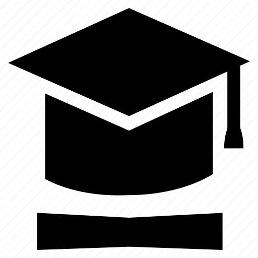 graduation cap, graduation hat, mortar board, tassel hat icon