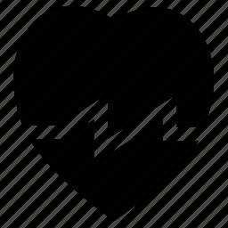 heart, heartbeat, human heart, pulsation, pulse icon