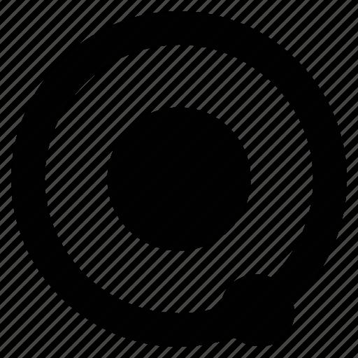 circle, orbit, planetary system, solar system icon