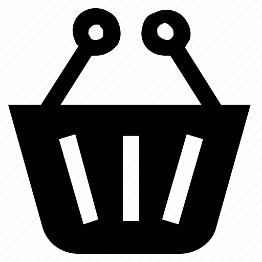 basket, grocery basket, hamper, picnic basket, shopping basket icon