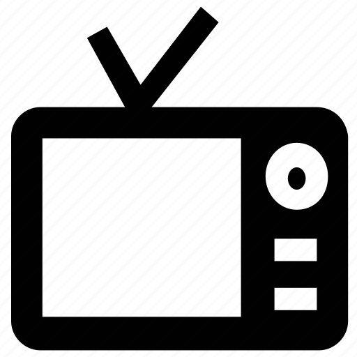 television, television set, tv, tv set icon