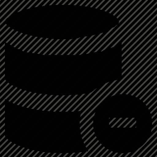 chart, data-base, databank, database with minus sign, record icon