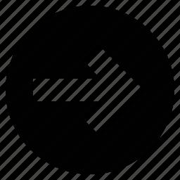 arrow, arrow forward, circular arrow, direction, forward icon