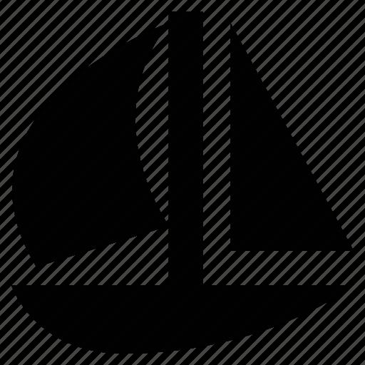 boat, sailboat, ship, travel, yacht icon