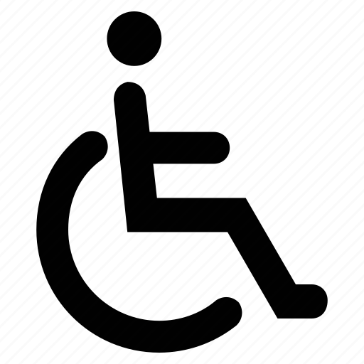 accessibility, disability, disabled, handicap, man, patient, wheel chair icon
