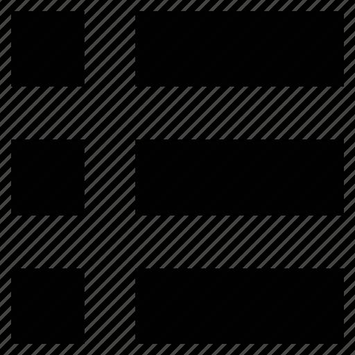 layout, list, list button, list view, menu, order icon