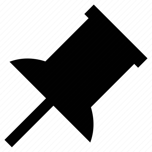 Drawing pin, paper pin, pin, pushpin, thumbtack icon - Download on Iconfinder