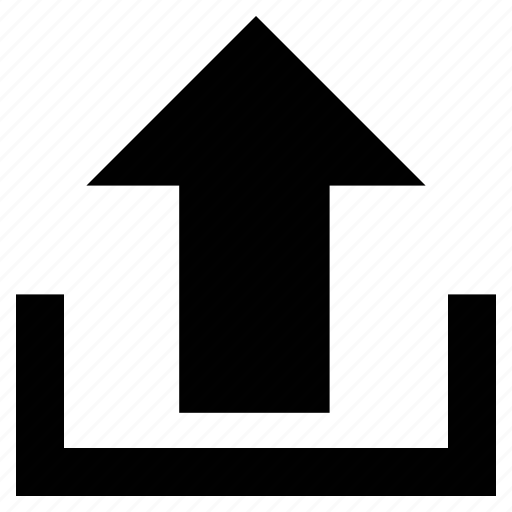 arrow, file upload, share, uploading, upward arrow icon