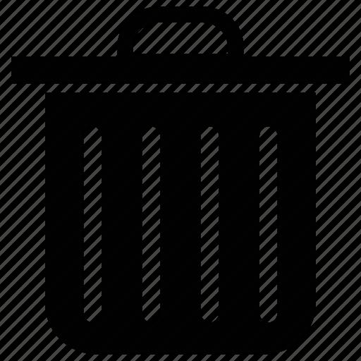 delete, dustbin, garbage, recycle bin, remove, trashin, waste container icon