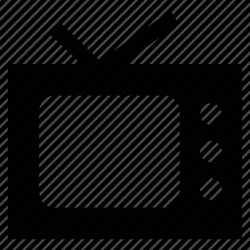 electronic, retro tv, television, tv, tv antenna, tv screen icon