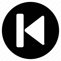 last track, left arrow, multimedia option, music, player, skip, video icon