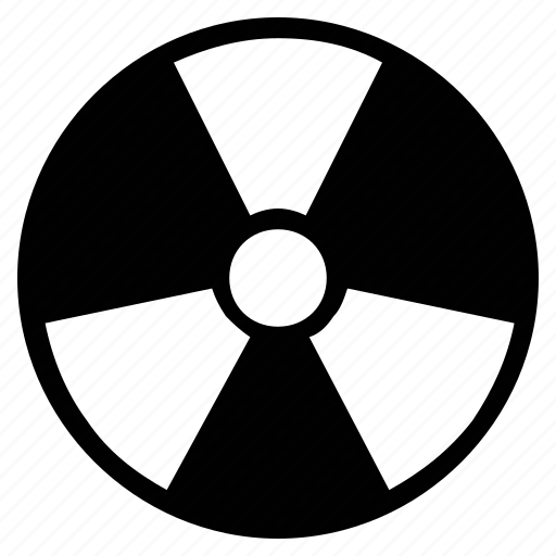 danger, nuclear, nuclear power, radiation, radioactivity, toxic icon