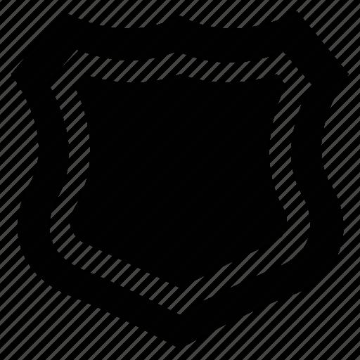 award, police badge, prize, shield, success, victory icon