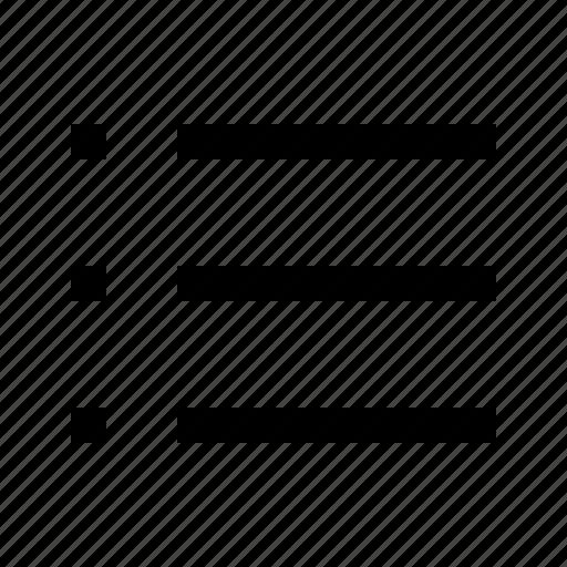 list, minicons icon