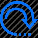 arrows, continue, infinite, iterate, loop, reset icon