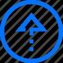 arrows, top, up icon