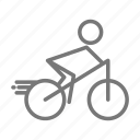 athlete, bike, cycling, fitness, recreation, ride, triathlon icon