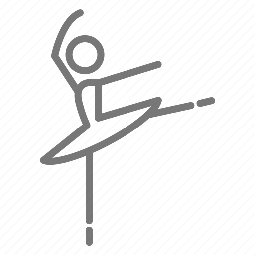 arabesque, ballerina, ballet, dance, penche, position, step icon